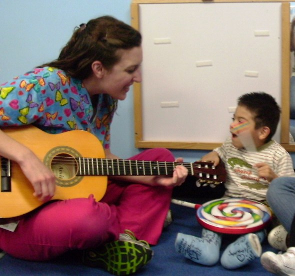Amy Kalas in a Music Therapy Session