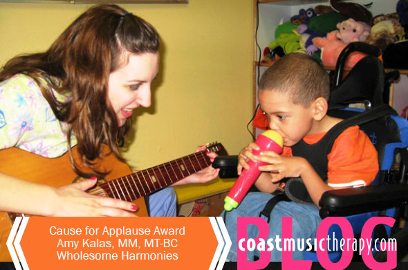 Coast Music Therapy Cause for Applause Award- Amy Kalas, Music Therapist