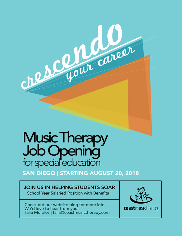 Coast Music Therapy San Diego Job Poster 2018