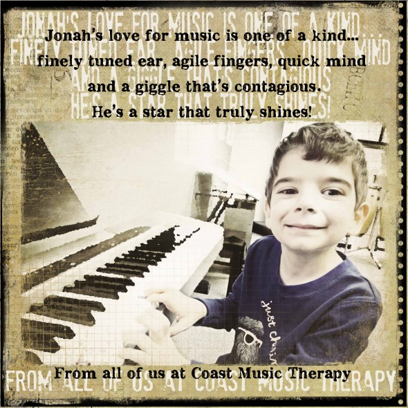 Jonah- Shining Star Award | Coast Music Therapy