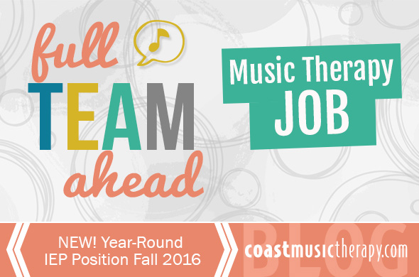 San Diego Music Therapy Job 2016