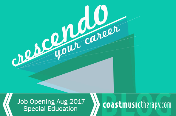 San Diego Music Therapy Job 2017 - Coast Music Therapy