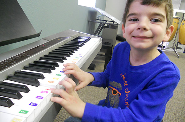 Jonah Plays Keyboard- Shining Star Blog | Coast Music Therapy