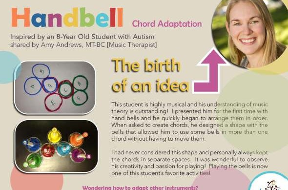 special needs handbell chord adaptation | Coast Music Therapy